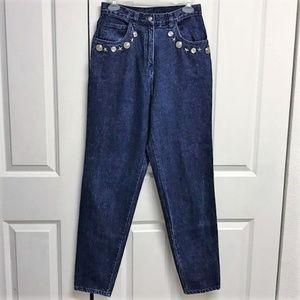 Elegantissimo Firenze Studded High Rise Blue Jeans